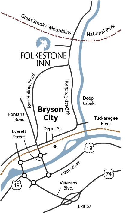 Bryson City map