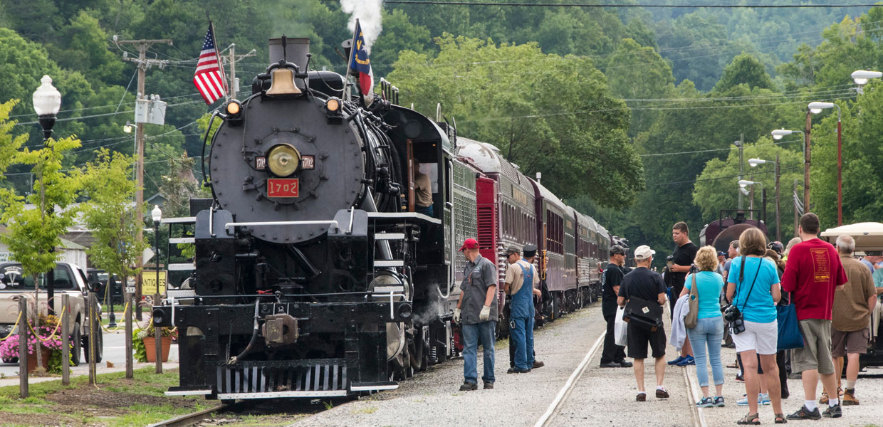 Excursion train steam engine